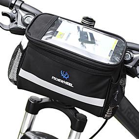 Недорогие Бардачки на руль-ROSWHEEL 4.5 L Бардачок на руль Влагонепроницаемый Пригодно для носки Ударопрочность Велосумка/бардачок ПВХ 600D полиэстер Велосумка/бардачок Велосумка Samsung Galaxy S6 / iPhone 4/4S / LG G3