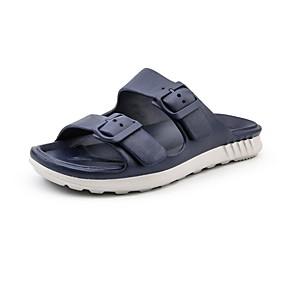 Χαμηλού Κόστους Αντρικές Παντόφλες & Σαγιονάρες-Ανδρικά Νεωτεριστικά παπούτσια EVA Καλοκαίρι Καθημερινό Παντόφλες & flip-flops Αναπνέει Μαύρο / Κόκκινο / Χακί / Βαθυγάλαζο / Τετράγωνη Μύτη