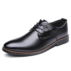 baratos Oxfords Masculinos-Homens Sapatos Confortáveis Sintéticos Primavera / Outono Oxfords Respirável Preto
