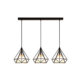 abordables Plafonniers-3 lumières Lampe suspendue Lumière dirigée vers le bas Métal 110-120V / 220-240V Blanc Crème