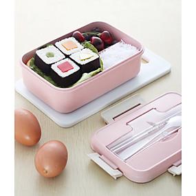 ieftine Veselă-cuptor cu microunde caseta de prânz de grâu cârnați cârpă de depozitare alimente