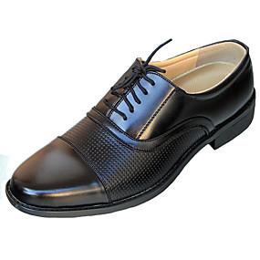 baratos Oxfords Masculinos-Homens Sapatos Confortáveis Couro Ecológico Primavera Negócio Oxfords Respirável Estampa Colorida Preto / Festas & Noite / Festas & Noite