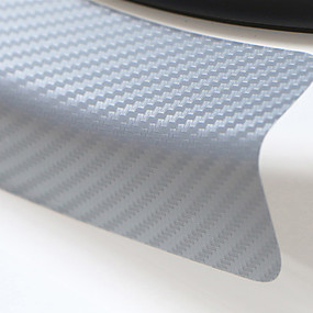 Недорогие Украшение и защита автомобильного кузова-Универсальный 4 шт. 60 см х 6,7 см подоконник потертости против царапин углеродного волокна авто стикер двери автомобильные аксессуары для укладки