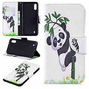 cheap Cellphone Case-Case For Samsung Galaxy Galaxy J6 Plus(2018) / J2 PRO 2018 Wallet / Card Holder / Flip Full Body Cases Panda Hard PU Leather for J6 (2018) / J6 Plus / J4 (2018)
