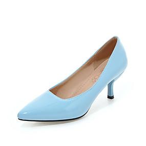 abordables Escarpins-Femme Cuir Verni / Polyuréthane Printemps & Automne Classique / Minimalisme Escarpins Kitten Heel Bout pointu Vert / Bleu / Rose / Soirée & Evénement