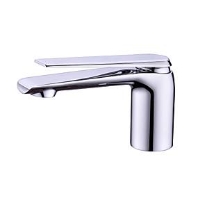 billige Ugentlige tilbud-Baderom Sink Tappekran - Utbredt Krom / galvanisert Frittstående Enkelt Håndtak Et HullBath Taps