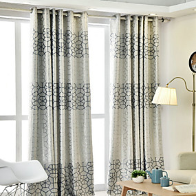 cheap sales-Contemporary Blackout One Panel Curtain Living Room   Curtains