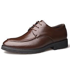baratos Oxfords Masculinos-Homens Sapatos formais Pele Primavera Negócio / Clássico Oxfords Não escorregar Preto / Marron / Sapatos de vestir