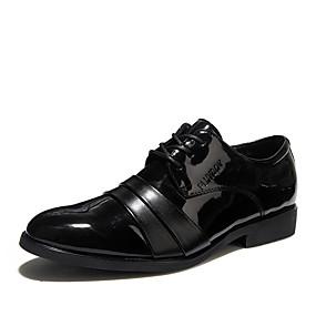 Χαμηλού Κόστους Αντρικά Oxford-Ανδρικά Τα επίσημα παπούτσια Φο Δέρμα Ανοιξη καλοκαίρι Δουλειά / Καθημερινό Oxfords Φορέστε την απόδειξη Μαύρο / Πάρτι & Βραδινή Έξοδος