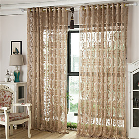 cheap Sheer Curtains-Contemporary Sheer One Panel Sheer Living Room   Curtains / Jacquard