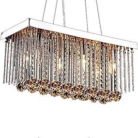 cheap Ceiling Lights & Fans-6-Light Crystal Chandelier Downlight Chrome Metal Crystal 110-120V / 220-240V Bulb Not Included / E12 / E14