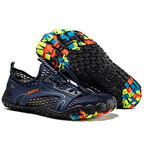 baratos Sapatos Esportivos Masculinos-Homens Sapatos Confortáveis Com Transparência Verão / Primavera Verão Esportivo Tênis Água / Tênis Anfíbio Respirável Cinzento / Amarelo / Verde Tropa