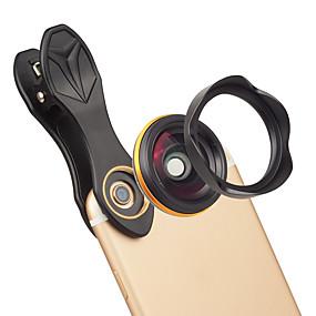 رخيصةأون عدسات و اكسسوارات -عدسة الهاتف المحمول عدسة زاوية كبيرة زجاج / سبيكة ألومنيوم 1X 37 mm 0.15 m 115 ° تصميم جديد