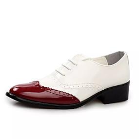 baratos Oxfords Masculinos-Homens Sapatos Confortáveis Couro Ecológico Primavera Formais Oxfords Respirável Estampa Colorida Preto / Amarelo / Vermelho