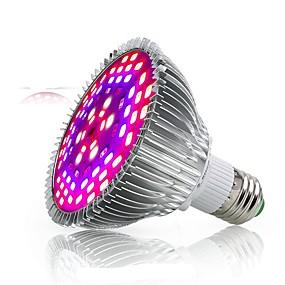 abordables Lampe de croissance LED-1pc 50 W 2500-3200 lm 78 Perles LED Spectre complet Pour Greenhouse Hydroponic Luminaire croissant Blanc Rouge Bleu 85-265 V Serre de légumes