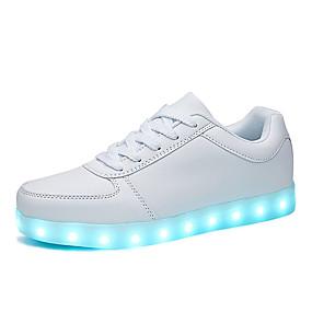 voordelige Damessneakers-Dames Sneakers Platte hak Ronde Teen PU Sportief / Informeel Wandelen Herfst Zwart / Wit / Feesten & Uitgaan