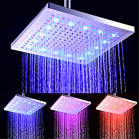 billige Sales-Moderne Regndusj galvanisert Trekk - LED / Nytt Design / Dusj, dusjhode