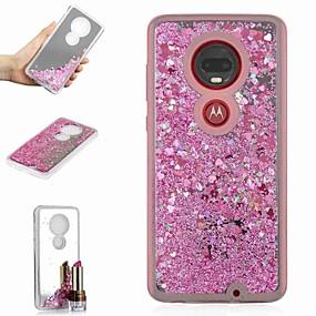 hesapli Cep Telefonu Kılıfları-Pouzdro Uyumluluk Motorola Moto X4 / Moto G7 / Moto G7 Plus Şoka Dayanıklı / Akan Sıvı / Ayna Arka Kapak Işıltılı Parlak / Renkli Gradyan Sert TPU