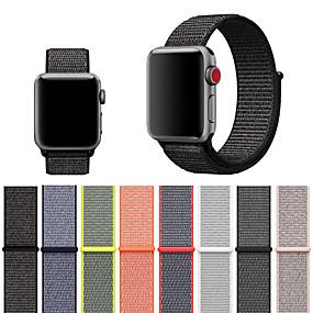 povoljno Smartwatch bendovi-remen za sat jabuka 4/3/2/1 tkani najlon loopback mekana prozračna zamjena velcro sportska traka za sat iwatch 40mm 44mm 42mm 38mm