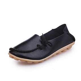 voordelige Damesschoenen met platte hak-Unisex Platte schoenen Creepers Imitatieleer Herfst / Lente zomer Wit / Zwart / Roze