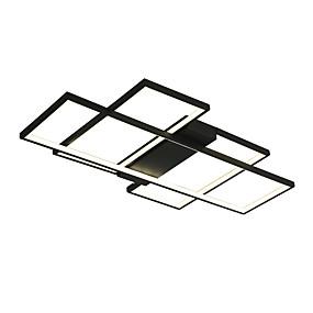 저렴한 홈 임프르브먼트-QINGMING® 기하학적 인 플레시 마운트 라이트 엠비언트 라이트 Painted Finishes 금속 미니 스타일, 밝기조절가능, LED 110-120V / 220-240V 웜 화이트 / 콜드 화이트 / 원격 제어로 조광 가능