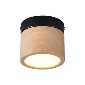 halpa Kattovalaisimet ja tuulettimet-johti 5w huuhteluvalot / mini led-kattovalaisimet ympäristön vaalea puu puu / bambusta 220v / 110v lämmin valkoinen / valkoinen / lamppu mukana