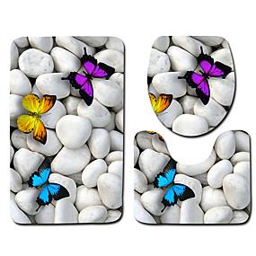 billige Matter og tepper-1set Klassisk Badematter 100g / m2 Polyester Strik Stretch Geometrisk / Nyhet Sklisikker / Nytt Design