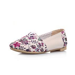 voordelige Damesschoenen met platte hak-Dames Canvas Lente & Herfst Informeel Platte schoenen Platte hak Ronde Teen Fuchsia / Groen