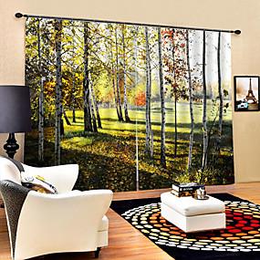 povoljno 3D zavjese-3D Print Privatnost Dvije zavjese Zavjesa Kupaonica   Curtains