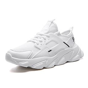 baratos Sapatos Esportivos Masculinos-Homens Sapatos de couro Couro Envernizado Primavera Verão Esportivo / Casual Tênis Corrida / Fitness Respirável Preto / Bege / Vermelho
