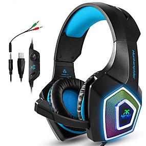 voordelige Gaming-gaming headsets xbox one ps4 hoofdtelefoon gaming-hoofdtelefoons met led-lampjes stereo game-hoofdtelefoon 3,5 mm bedrade oorkappen voor pc mac