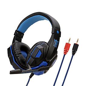 voordelige Gaming-Soyto sy830mv verstelbare lengte scharnieren 3.5mm surround stereo gaming headset hoofdband hoofdtelefoon met microfoon voor pc 3 kleur voor keuze