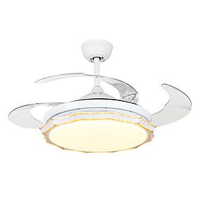 povoljno Stropni ventilatori-QINGMING® Mini Stropni ventilator Ambient Light Slikano završi Metal Mini Style, Trobojni 110-120V / 220-240V Topla bijela i bijela
