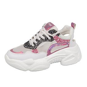 0f2e281b9 نسائي شبكة الصيف رياضي أحذية رياضية الركض Creepers أمام الحذاء على شكل  دائري ترتر أزرق / زهري / ألوان متناوبة
