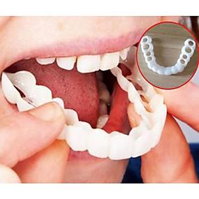 billige Munnhygiene-whitening snap perfekt smil tenner falsk tanndeksel på smil øyeblikkelige tenner kosmetisk protese omsorg for øvre en størrelse passer