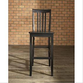 povoljno Namještaj za kuhinju i blagavaonicu-set od 2 - 30-inčnih tvrdih drvenih stolica u crnoj boji