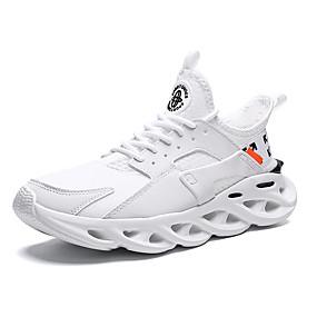 baratos Sapatos Esportivos Masculinos-Unisexo Solas Claras Tissage Volant Verão Esportivo / Casual Tênis Corrida Respirável Branco / Preto / Vermelho