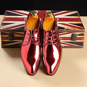 halpa Miesten Oxford-kengät-Miesten Muodolliset kengät Kiiltonahka Kevät kesä / Syystalvi Liiketoiminta / Englantilainen Oxford-kengät Kulta / Punainen / Sininen / Juhlat