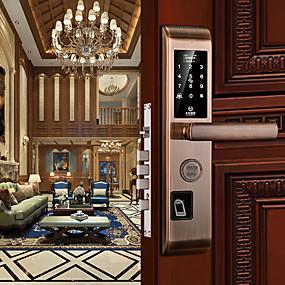cheap Daily Deals-Smart Lock Combination Lock Fingerprint Lock Card Password with APP Anti-theft Electronic Locks 6068 Lock Body Smart Security Home Suit for Left Door Right Door