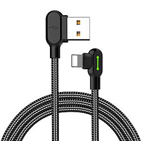 povoljno iPhone kabel i punjači-Rasvjeta Kabel 1.8M (6ft) U obliku pletenice / Brzo punjenje Najlon USB kabelski adapter Za iPhone