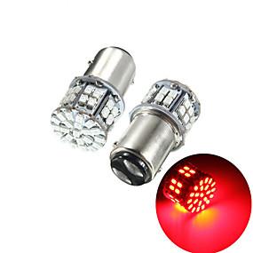 povoljno Car Signal Lights-pakiranje od 2 super svijetle bay15d 1157 50smd 1206 vodio automobil kočnice svjetlo dc 12v 50 leds auto stražnja stražnja svjetla crvena pokazivač smjera žarulja