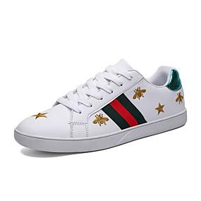 economico Sneakers da uomo-Per uomo Scarpe comfort PU Primavera / Autunno Casual Sneakers Footing Antiscivolo Rosso chiaro / Verde / Bianco / Suole leggere