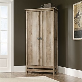 cheap Bedroom Furniture-Cottage Style Wardrobe Armoire Storage Cabinet in Light Oak Wood Finish