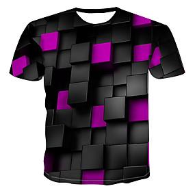 povoljno Plan Your Summer-Majica s rukavima Muškarci 3D Okrugli izrez Print Zelen XXXXL