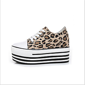 voordelige Damessneakers-Dames Canvas Zomer Sneakers Creepers Bruin / Luipaard