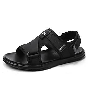 baratos Sandálias Masculinas-Homens Sapatos Confortáveis Com Transparência Verão Casual Sandálias Caminhada Respirável Preto / Azul / Cinzento / Ao ar livre