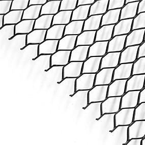 voordelige Auto frontgrille decoratie-auto zilver / zwart aluminium voorbumper zeshoekige grillplaat (11x25mm)