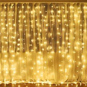billige Hjem & Hage-3mx2m 240led hvit / varm hvit / flerfarget lys romantisk jul bryllup utendørs dekorasjon gardin streng lys