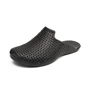baratos Tamancos Masculinos-Homens Sapatos Confortáveis PVC Verão Clássico / Casual Tamancos e Mules Respirável Preto / Azul / Marron
