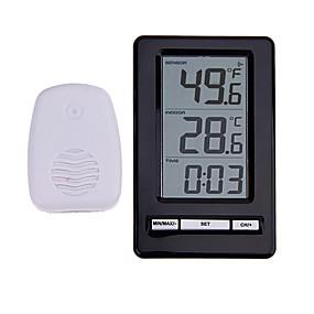 voordelige Super Korting-ts-ws-47 draadloze digitale thermometer indoor outdoor thermometer tijdweergave klok tafel staan weerstation